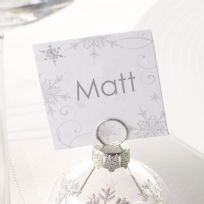 Shimmering Snowflake Place Cards (10)
